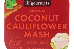 COCONUT CAULIFLOWER MASH ORGANIC VEGGIE MEAL