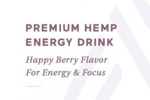 PREMIUM HEMP 75 MG DIETARY SUPPLEMENT ENERGY DRINK, HAPPY BERRY