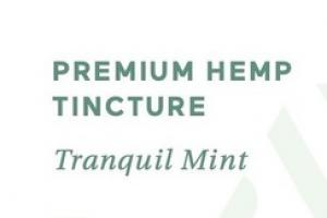PREMIUM HEMP DIETARY SUPPLEMENT TINCTURE, TRANQUIL MINT