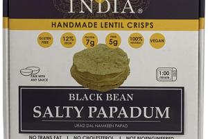BLACK BEAN SALTY PAPADUM HANDMADE LENTIL CRISPS