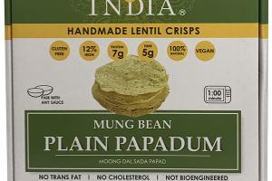 MUNG BEAN PLAIN PAPADUM