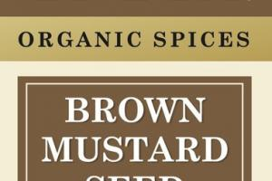 ORGANIC SPICES BROWN MUSTARD SEED