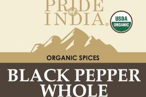 BLACK PEPPER WHOLE ORGANIC SPICES
