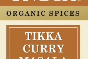 TIKKA CURRY MASALA ORGANIC SPICES