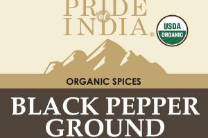 BLACK PEPPER GROUND ORGANIC SPICES