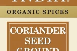 CORIANDER SEED GROUND ORGANIC SPICES