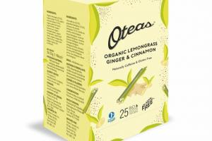 ORGANIC LEMONGRASS GINGER & CINNAMON BIODEGRADABLE WHOLE LEAF TEA BAG
