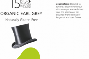 ORGANIC EARL GREY BIO DEGRADABLE WHOLE LEAF TEA BAGS