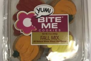 ALL NATURAL WHOLE WHEAT SHORTBREAD FALL MIX COOKIES