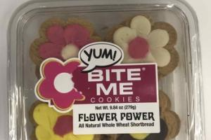 ALL NATURAL WHOLE WHEAT SHORTBREAD FLOWER POWER COOKIES