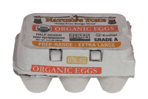 GRADE A FREE-RANGE ORGANIC EXTRA LARGE EGGS