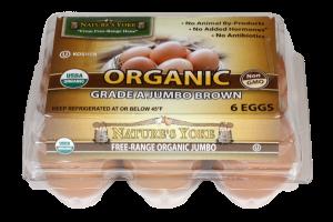 ORGANIC GRADE A JUMBO BROWN EGGS