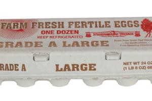 GRADE A FARM FRESH FERTILE LARGE EGGS
