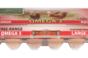 GRADE A FREE-RANGE OMEGA 3 LARGE BROWN EGGS