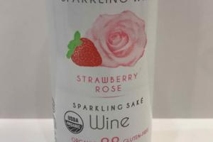 ORGANIC STRAWBERRY ROSE SPARKLING SAKE WINE