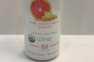 SPARKLING WINE, PINK GRAPEFRUIT GINGER