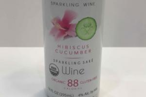HIBISCUS CUCUMBER SPARKLING SAKE WINE