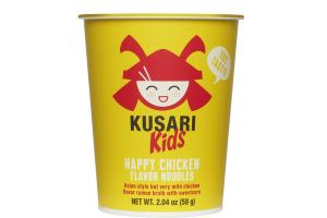 HAPPY CHICKEN FLAVOR NOODLES ASIAN STYLE BUT VERY MILD CHICKEN FLAVOR RAMEN BROTH WITH SWEETCORN