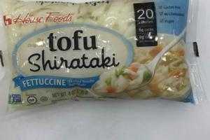 THE ORIGINAL TOFU SHIRATAKI FETTUCCINE SHAPED NOODLE SUBSTITUTE