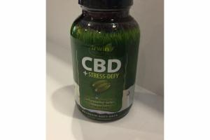 CBD + STRESS-DEFY DIETARY SUPPLEMENT LIQUID SOFT-GELS