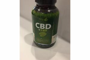 CBD + 5-HTP DIETARY SUPPLEMENT LIQUID SOFT-GELS