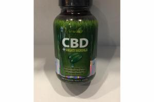 CBD +MIGHTY MORINGA DIETARY SUPPLEMENT LIQUID SOFT-GELS