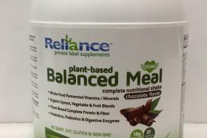 Plant-based Balanced Meal Complete Nutritional Shake  Dietary Supplement