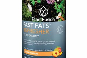 REFRESHER, KETO ENERGY FAST-ACTING FATS FROM MCTS, ELECTROLYTES AND BOTANICALS FOR ENHANCED MENTAL AND PHYSICAL ENERGY DIETARY SUPPLEMENT, PEACH MANGO