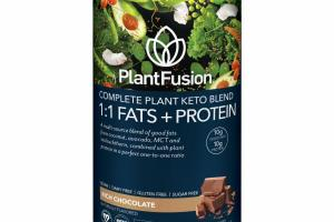 RICH CHOCOLATE COMPLETE PLANT KETO BLEND 1:1 FATS + PROTEIN DIETARY SUPPLEMENT