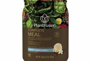 A FUSION OF PLANT-BASED PROTEINS + KEY ESSENTIALS FOR A COMPLETELY NOURISHING MEAL REPLACEMENT, CREAMY VANILLA BEAN
