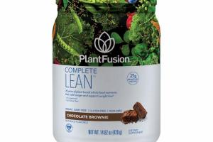 A FUSION OF PLANT-BASED WHOLE FOOD NUTRIENTS THAT CURB HUNGER AND SUPPORT WEIGHT LOSS DIETARY SUPPLEMENT, CHOCOLATE BROWNIE