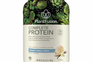 A FUSION OF THE WORLD'S BEST PLANT-BASED PROTEIN SOURCES THAT DELIVERS UNCOMPROMISED TASTE, TEXTURE, POTENCY AND DIGESTIBILITY DIETARY SUPPLEMENT, CREAMY VANILLA BEAN