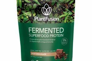 RICH CHOCOLATE FERMENTED SUPERFOOD PROTEIN DIETARY SUPPLEMENT