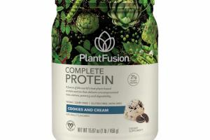 A FUSION OF THE WORLD'S BEST PLANT-BASED PROTEIN SOURCES THAT DELIVERS UNCOMPROMISED TASTE, TEXTURE, POTENCY AND DIGESTIBILITY DIETARY SUPPLEMENT, COOKIES AND CREAM