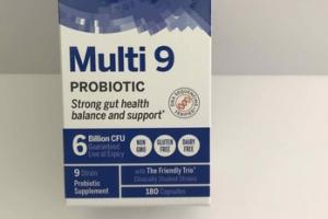 MULTI 9 PROBIOTIC STRONG GUT HEALTH BALANCED AND SUPPORT 9 STRAIN PROBIOTIC SUPPLEMENT 180 CAPSULES
