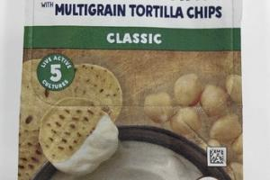 ORGANIC CLASSIC YOGURT & HUMMUS WITH MULTIGRAIN TORTILLA CHIPS