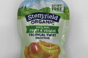 100% REAL FRUIT & VEGGIE TROPICAL TWIST SMOOTHIE