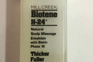 NATURAL SCALP MASSAGE EMULSION WITH BIOTIN PHASE III