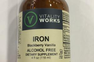 Alcohol Free Iron Dietary Supplement