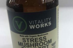 STRESS MUSHROOM SUPPORT HERBAL SUPPLEMENT VEGGIE CAPS