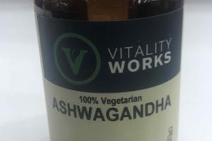 100% VEGETARIAN ASHWAGANDHA HERBAL SUPPLEMENT LIQUID VEGGIE CAPS