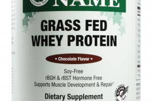Grass Fed Whey Protein Dietary Supplement