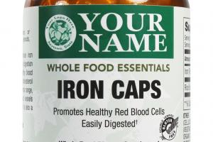 Iron Caps Whole Food Dietary Supplement