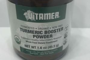 ORGANIC TURMERIC BOOSTER POWDER WHOLE FOOD DIETARY SUPPLEMENT