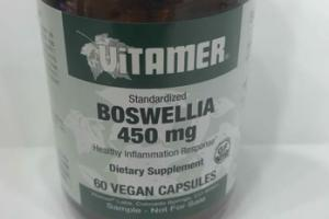 STANDARDIZED BOSWELLIA 450 MG HEALTHY INFLAMMATION RESPONSE DIETARY SUPPLEMENT VEGAN CAPSULES