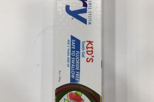 Natural Kid's Tooth Gel, Natural Tropical Fruit
