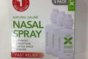 Natural Saline Nasal Spray With Xylitol, Fast Relief