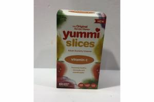 NATURAL ORANGE VITAMIN C ADULT GUMMY VITAMIN YUMMI SLICES DIETARY SUPPLEMENT