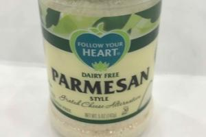PARMESAN STYLE GRATED CHEESE ALTERNATIVE