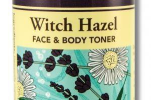WITCH HAZEL FACE & BODY TONER INFUSED WITH LAVENDER & CHAMOMILE ESSENTIAL OILS & ALOE